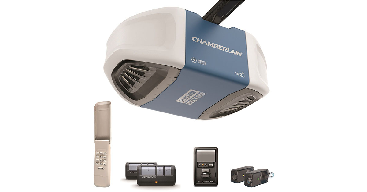Chamberlain Group B730 Ultra Quiet   Strong Belt Drive Garage Door Opener image