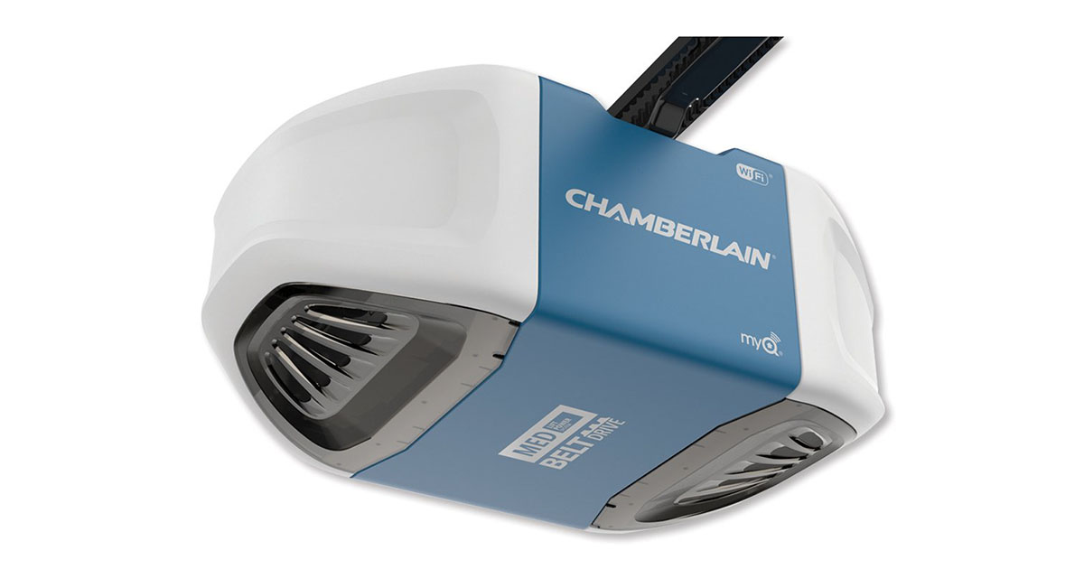 Chamberlain Group B550 Smartphone Controlled Ultra Quiet Strong Belt Drive Garage Door Opener image