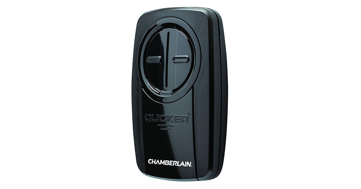 Chamberlain Group KLIK3U-BK Clicker Universal 2 Button Garage Door Opener Remote image